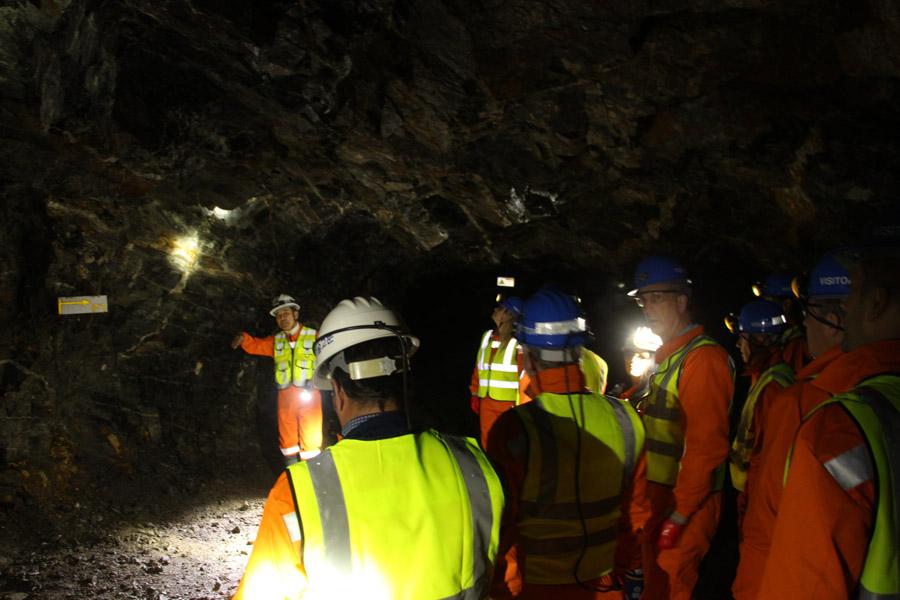 Underground Visit & Check of Scheelite Deposit