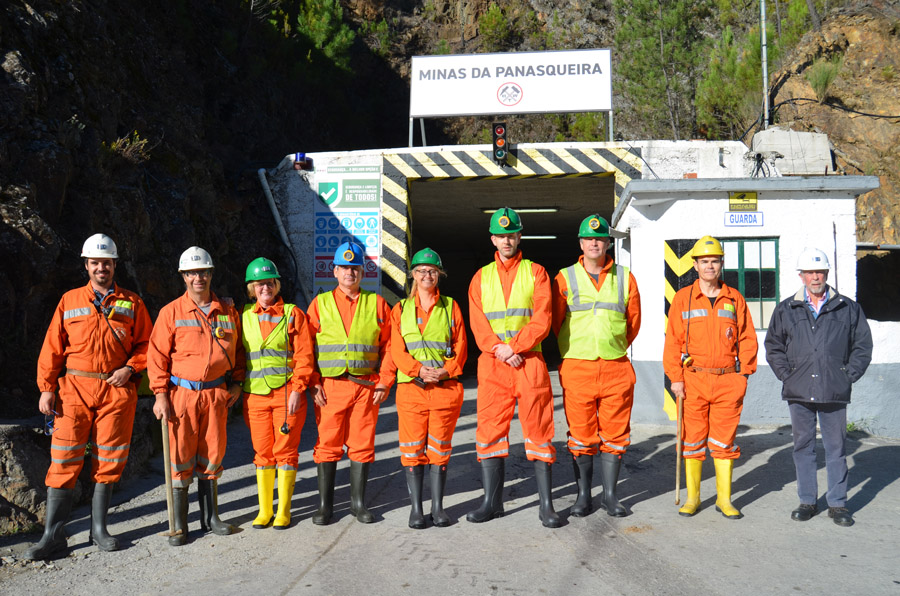 OeKB and KFW bank visit to Panasqueira mine 23-25 October 2019 At the entrance of the mine