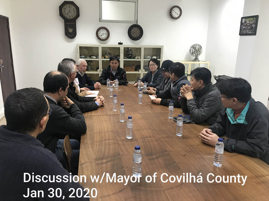 Discussion with Mayor of Covilha County - 30 Jan 2020