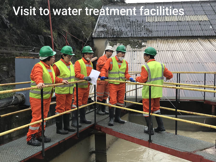Visit to water treatment facilities