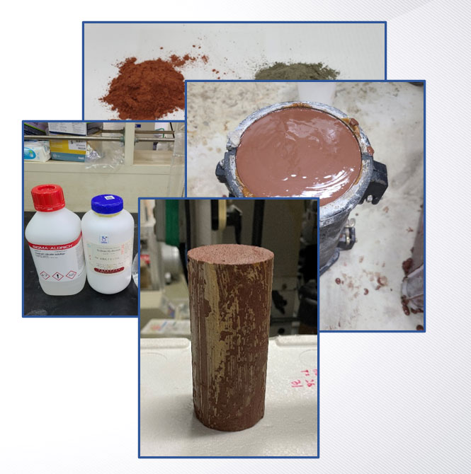 Geopolymer sample made from tailings of Sangdong Mine